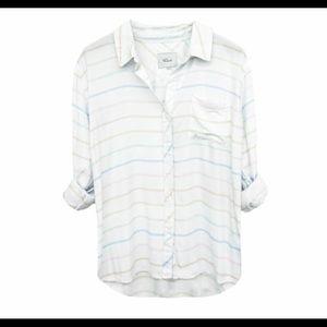 Rails Women's Rainbow Stripe Button Down Shirt R2